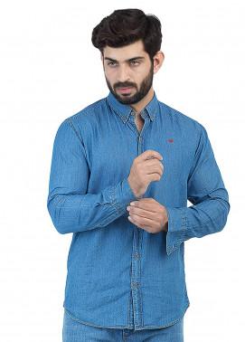 Shahzeb Saeed Denim Casual Men Shirts - Sky Blue CSW-127