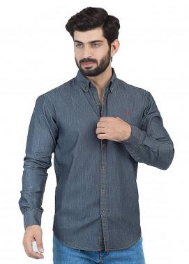 Shahzeb Saeed Denim Casual Shirts for Men - Dark Grey CSW-128