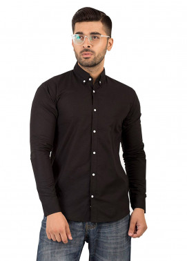 Shahzeb Saeed Cotton Casual Shirts for Men - Dark Grey CSW-130