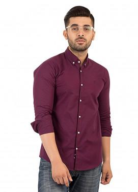 Shahzeb Saeed Cotton Casual Men Shirts - Purple CSW-133