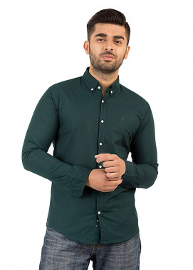 Shahzeb Saeed Cotton Casual Men Shirts - Green CSW-139