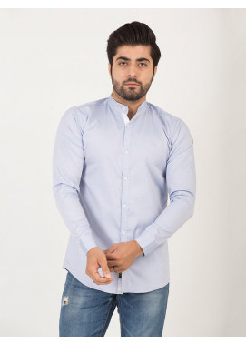 Shahzeb Saeed Cotton Casual Shirts for Men - SKY BLUE CSW-191