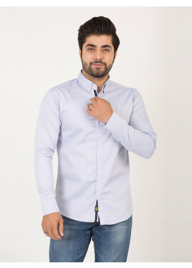 Shahzeb Saeed Cotton Casual Shirts for Men - SKY BLUE CSW-193