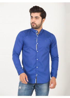 Shahzeb Saeed Cotton Casual Men Shirts - ROYAL BLUE CSW-194