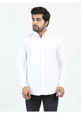 Shahzeb Saeed Cotton Casual Men Shirts - WHITE CSW-202