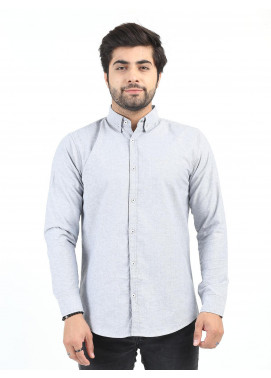 Shahzeb Saeed Cotton Casual Shirts for Men - GREY CSW-203