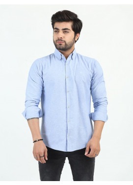 Shahzeb Saeed Cotton Casual Shirts for Men - LIGHT BLUE CSW-205