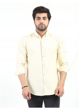 Shahzeb Saeed Cotton Casual Men Shirts - FAWN CSW-206