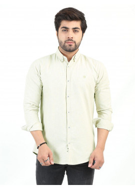 Shahzeb Saeed Cotton Casual Shirts for Men - BEIGE CSW-207