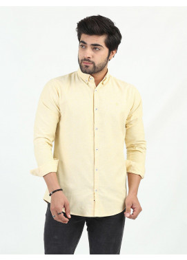 Shahzeb Saeed Cotton Casual Men Shirts - LEMON CSW-208