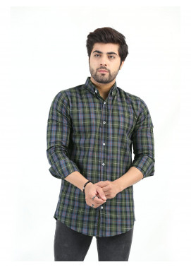 Shahzeb Saeed Cotton Casual Men Shirts - MULTI CHECK CSW-212
