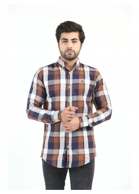 Shahzeb Saeed Cotton Casual Shirts for Men - MULTI CHECK CSW-213