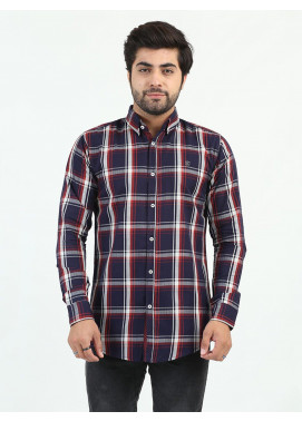 Shahzeb Saeed Cotton Casual Men Shirts - MULTI CHECK CSW-214