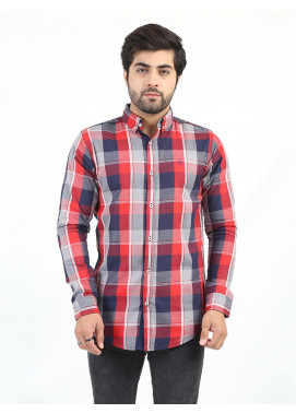 Shahzeb Saeed Cotton Casual Shirts for Men - MULTI CHECK CSW-215