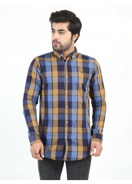 Shahzeb Saeed Cotton Casual Men Shirts - MULTI CHECK CSW-216