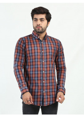 Shahzeb Saeed Cotton Casual Shirts for Men - MULTI CHECK CSW-218