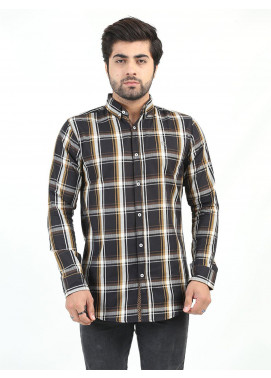 Shahzeb Saeed Cotton Casual Men Shirts - MULTI CHECK CSW-219