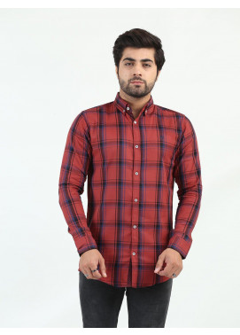 Shahzeb Saeed Cotton Casual Shirts for Men - MULTI CHECK CSW-220