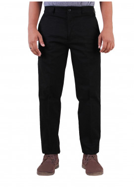 Shahzeb Saeed Cotton Dress Trousers for Men - BLACK  CTR-85