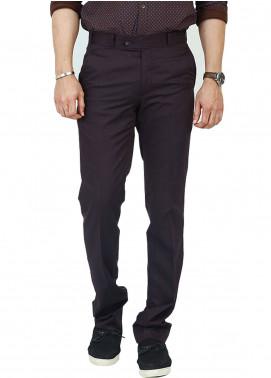 Shahzeb Saeed Wash N Wear Dress Trousers for Men - Purple WTR-102