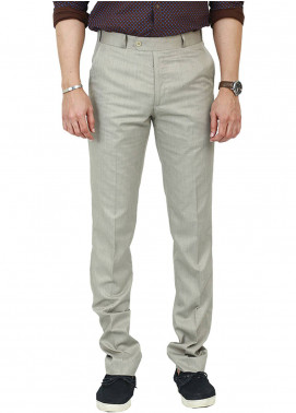Shahzeb Saeed Wash N Wear Dress Trousers for Men - Fawn WTR-104