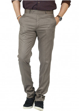Shahzeb Saeed Wash N Wear Dress Men Trousers - Brown WTR-107