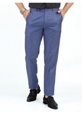 Shahzeb Saeed Suiting Dress Men Trousers - DARK BLUE WTR-154