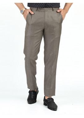 Shahzeb Saeed Suiting Dress Trousers for Men - BROWN WTR-156