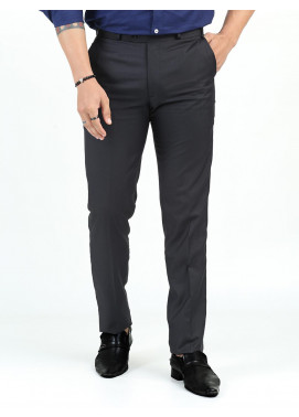 Shahzeb Saeed Suiting Dress Trousers for Men - DARK GREY WTR-163