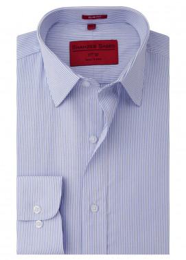 Shahzeb Saeed Cotton Formal Shirts for Men - Blue RTW-1421