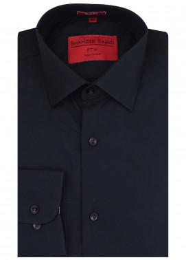 Shahzeb Saeed Cotton Formal Men Shirts - Black RTW-1438