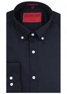 Shahzeb Saeed Cotton Formal Shirts for Men - Black RTW-1439