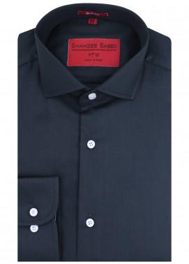 Shahzeb Saeed Cotton Formal Men Shirts - Black RTW-1440