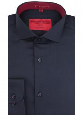 Shahzeb Saeed Cotton Formal Shirts for Men - Black RTW-1441