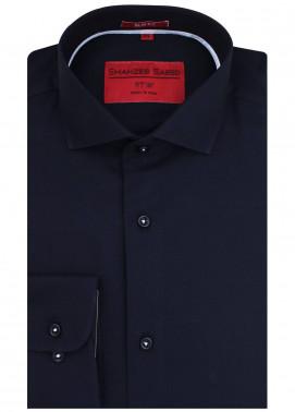 Shahzeb Saeed Cotton Formal Men Shirts - Navy Blue RTW-1442