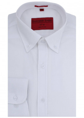 Shahzeb Saeed Cotton Formal Shirts for Men - White RTW-1453