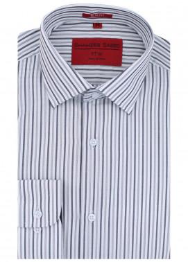 Shahzeb Saeed Cotton Formal Men Shirts - Grey RTW-1468
