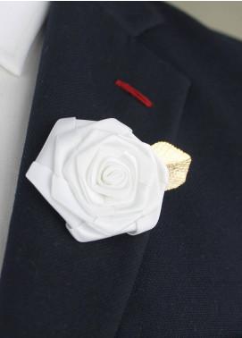 Shahzeb Saeed  Silk  Lapel Pin Flower LPF-054 - Casual Accessories