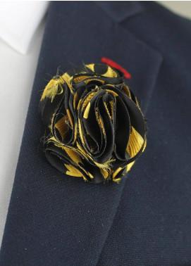 Shahzeb Saeed  Silk  Lapel Pin Flower LPF-070 - Casual Accessories