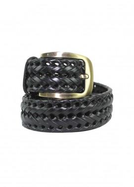 Shahzeb Saeed Textured Leather Men Belts BELT-027 Dark Brown - Casual Accessories
