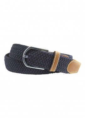 Shahzeb Saeed Textured Leather Men Belts BELT-081 Navy Blue - Casual Accessories