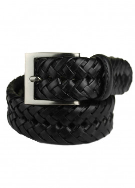 Shahzeb Saeed Textured Leather Men Belts BELT-122 Black - Casual Accessories