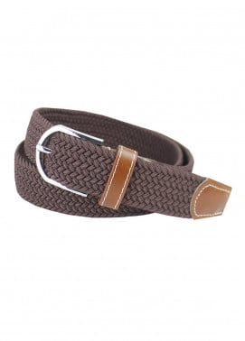 Shahzeb Saeed Textured Leather Men Belts BELT-140 Brown - Casual Accessories