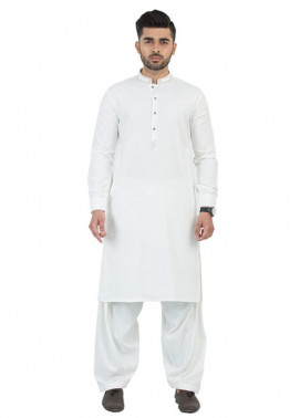 Shahzeb Saeed Wash N Wear Formal Men Kameez Shalwar - Off White SK-191