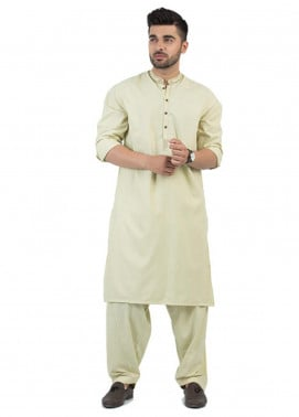 Shahzeb Saeed Wash N Wear Formal Kameez Shalwar for Men - Green SK-194