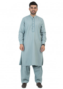 Shahzeb Saeed Wash N Wear Formal Kameez Shalwar for Men - Green SK-196