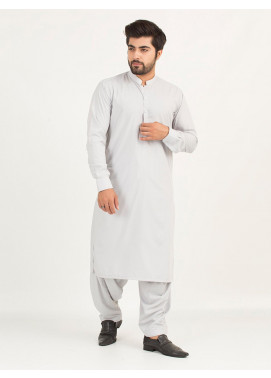 Shahzeb Saeed Wash N Wear Formal Men Kameez Shalwar - LIGHT GREY SK-232