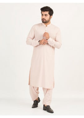Shahzeb Saeed Wash N Wear Formal Kameez Shalwar for Men - PEACH SK-233
