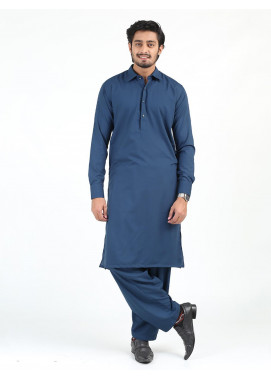 Shahzeb Saeed Wash N Wear Formal Kameez Shalwar for Men - BLUE SK-239