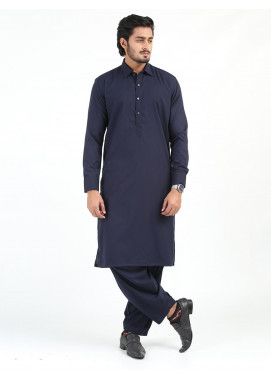 Shahzeb Saeed Wash N Wear Formal Kameez Shalwar for Men - NAVY BLUE SK-241